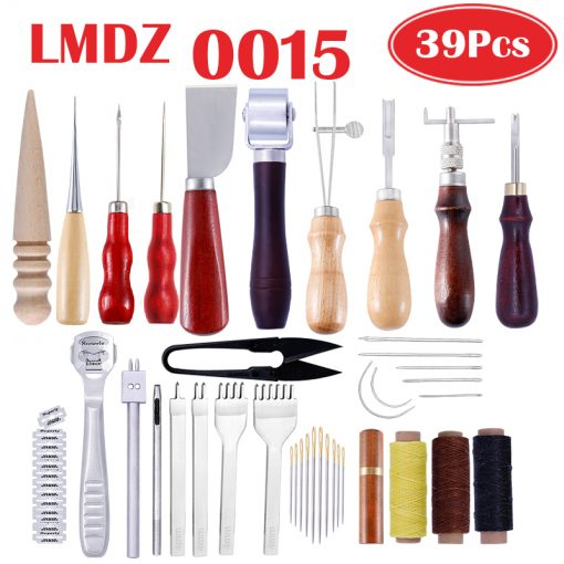 Leather Craft Stitching Carving Working Sewing Saddle Groover Tool Kit