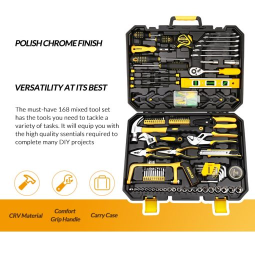 General Household Repair Hand Tool Kit with Tool Box