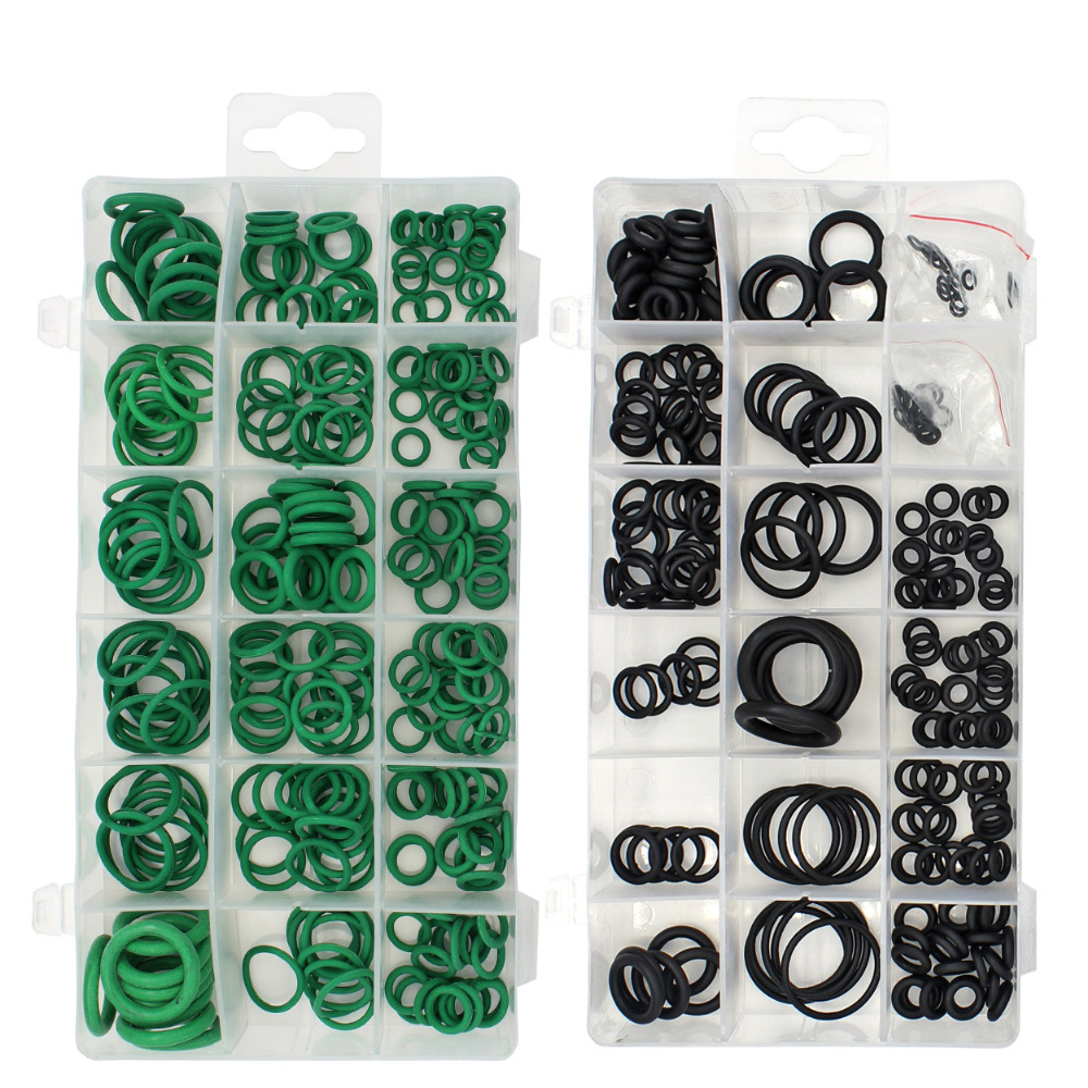 Black and Green 495pc/36size Nitrile Rubber O-ring Gaskets