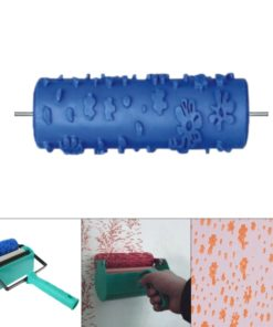 Embossed Paint Roller Sleeve Wall Texture Stencil