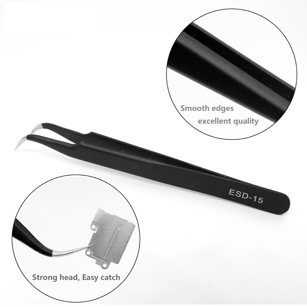 Precision Stainless Steel Anti-static Tweezer Kit