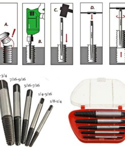 Damaged Screw Removal Extractor Tool Set