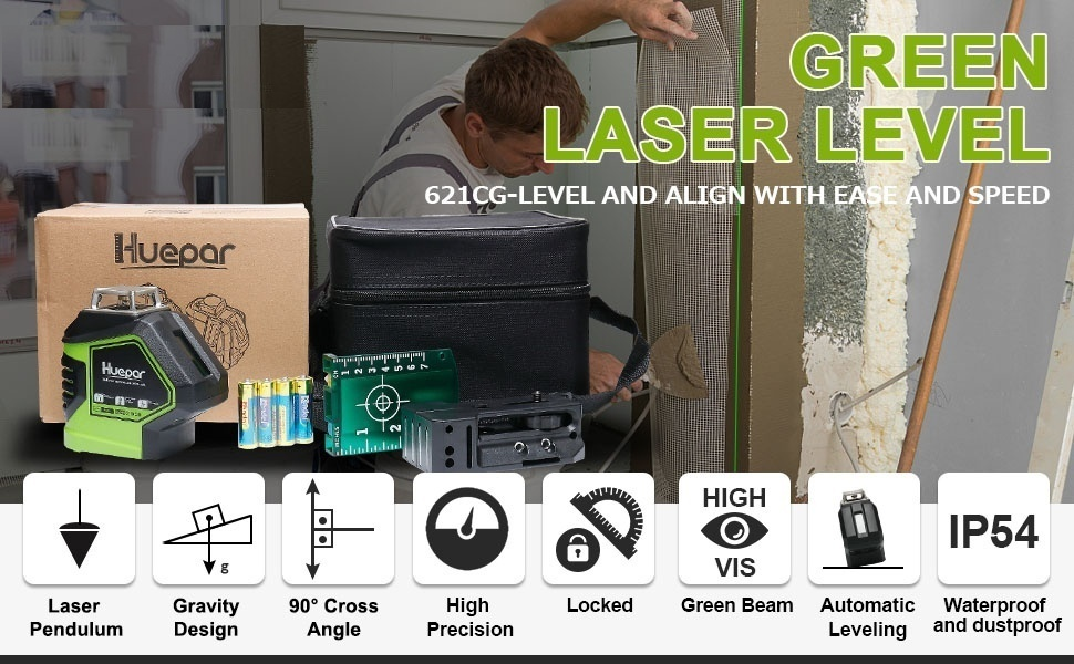 Green Beam Laser Self-Leveling Level Tool